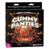 Edible Crotchless Gummy Panties - Peach