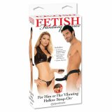 FF Vibrating Hollow Strap On-Black
