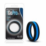 Blush - SILICONE GO PRO COCK RING Black/Blue/Black