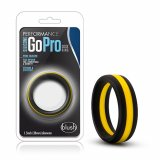 Blush - SILICONE GO PRO COCK RING Black/Gold/Black