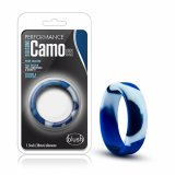 Blush - SILICONE CAMO COCK RING Blue Camouflage