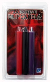 Drip Candles - set of 3 (P/R/B)