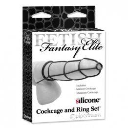 FF Elite - Cockcage & Ring Set Black
