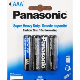 `AAA` Batteries HD - 4 pack (12 packs per box)