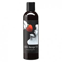 Edible Massage Oil Strawberry 8oz