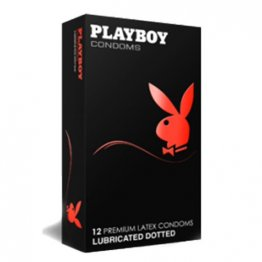 Playboy Condoms - Textured Lubricated Dotted 12 Pack