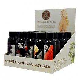 Edible Massage Oil - 2oz.  25pc Display Including 5 of each fragrance (CASES ONLY)