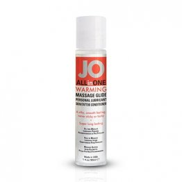 JO ALL-IN-ONE Massage Glide Warming 1oz. (12 units/Dsp)
