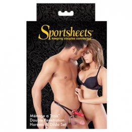 Sportsheets -  Menage a Trois Strap-On w/ Dildo