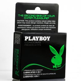 Playboy Condoms - Lubricated 3 in 1 -   3 Pack