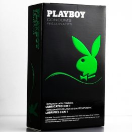 Playboy Condoms - Lubricated 3 in 1 -   12 Pack