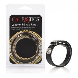 Leather 3 Snap Ring
