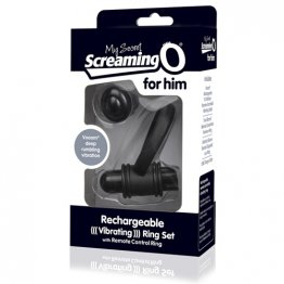 Screaming O - My Secret Bullet and Ring for Him - Black