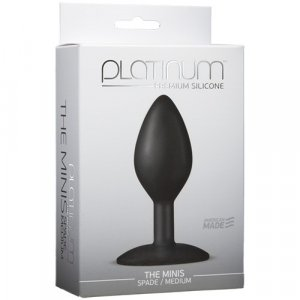 Platinum Premium Silicone  The Mini`s Black Spade - Medium