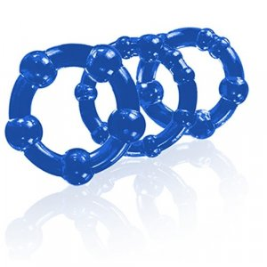 Stay Hard - Beaded Cock Rings - Blue