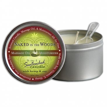 Round Candles Naked in the Woods  6.8oz